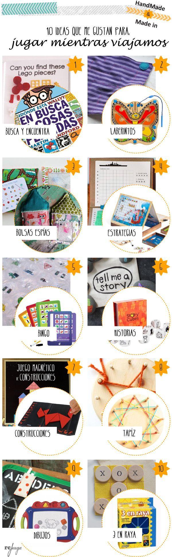 10 juegos DIY y Made in para niños, ideales para llevar de viaje
