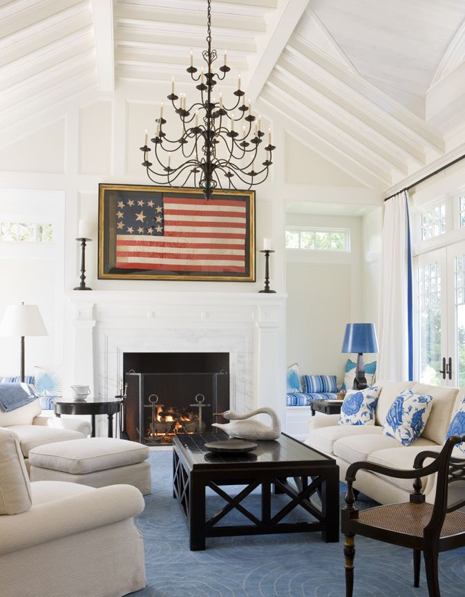 Oyster Harbors - Coastal - Living room - Images by SLC Interiors | Wayfair