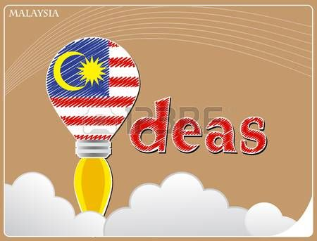 Idea concept made from the flag of Malaysia.