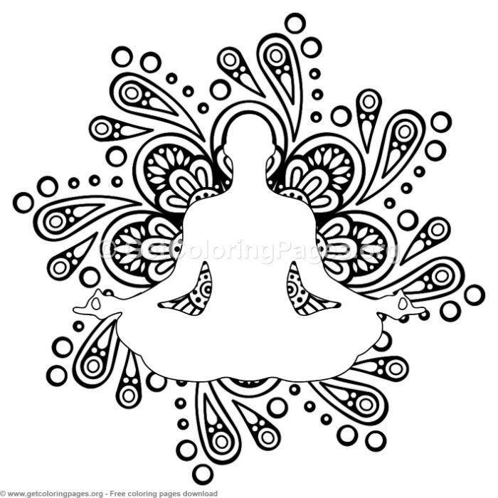 7 Yoga Pose Mandala Coloring Pages Free Instant Download Coloring Coloringbook Mandala Ausmalen Mandala Vorlagen Malvorlagen Zum Ausdrucken