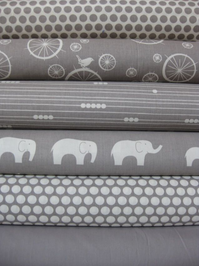 Jay-Cyn Designs for Birch Fabrics, Mod Basics, Organic, Shroom, 6 Total