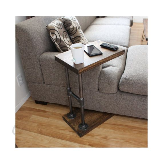 Industrial C Table  Side Table  Living Room by MaverickIndustrial