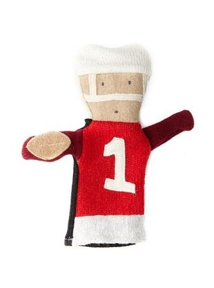 28% OFF Cate and Levi Unisex Football People Puppet , Red/White