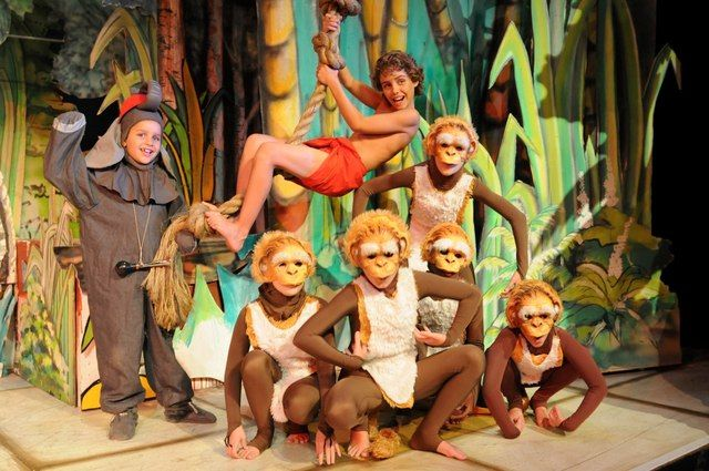 Tahtum Volschenk as Hathi, Kian Du Preez as Mowgli and the monkeys