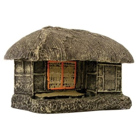 Amazon.com: Pure Aquatic Rustic Asian House Aquarium Ornament - 9.5 in. x 5.5 in. x 5.5 in.: Pet Supplies