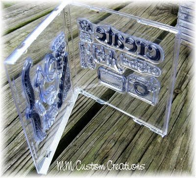 CD case storage for acrylic stamps. Either CD or DVD cases. Then put them in an Ikea Benno!!