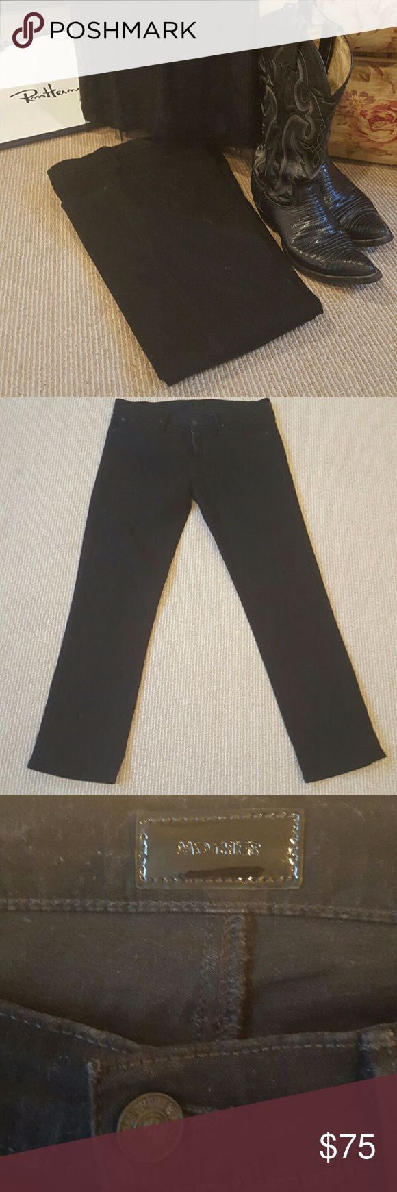 Mothers Jean Black Mothers Jean only worn once in new condition . The perfect black jean . MOTHER Jeans Boot Cut