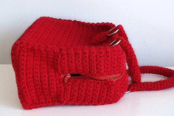Bowling tas vintage stijl handtas handgemaakte Gehaakte tas