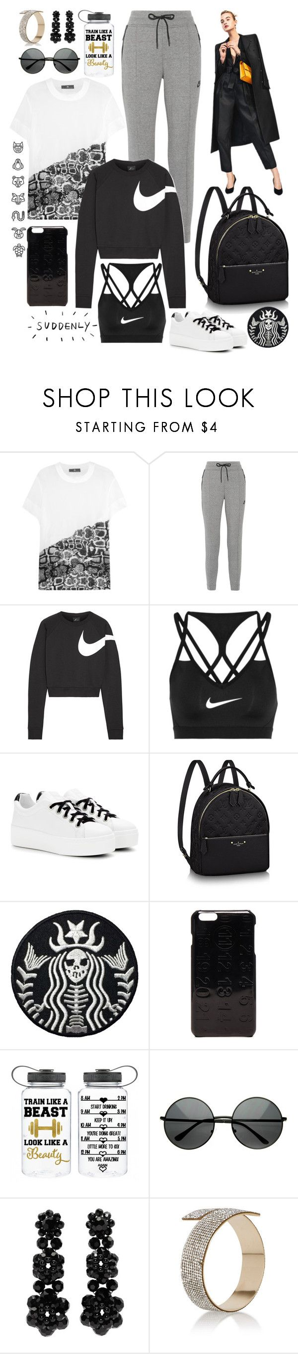 """""""Suddenly"""" by cherieaustin ❤ liked on Polyvore featuring adidas, NIKE, Kenzo, Maison Margiela and Simone Rocha"""