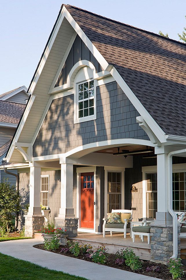exterior paint color ideas sherwin williams sw night owl sw7061 - Exterior House Paint Colors
