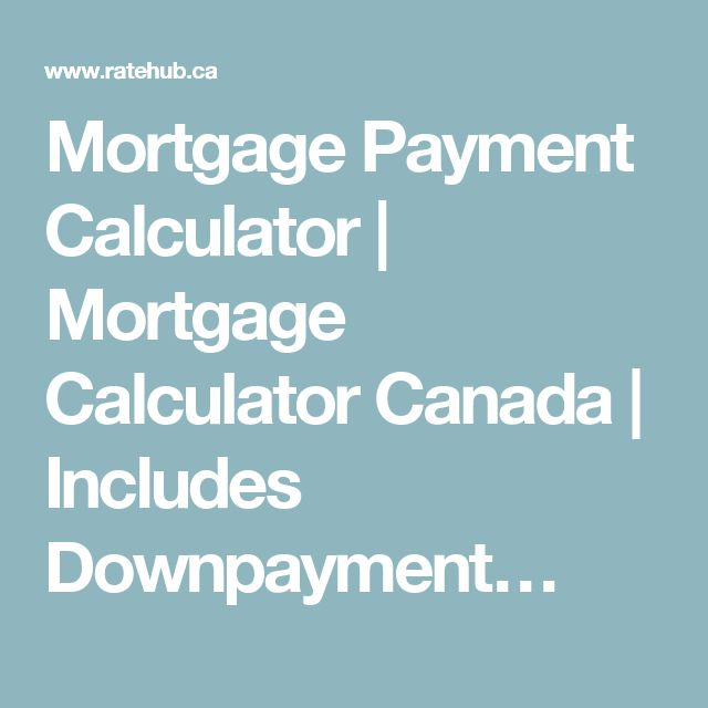Mortgage Payment Calculator | Mortgage Calculator Canada | Includes Downpayment…