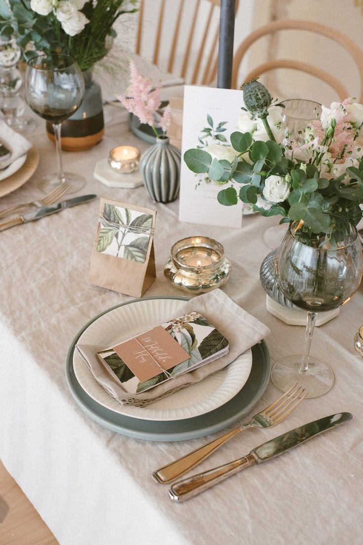 Leinen, Graublau und Salbei – Natürliche Hochzeitsdekoration – Fräulein K. Sagt Ja Hochzeitsblog