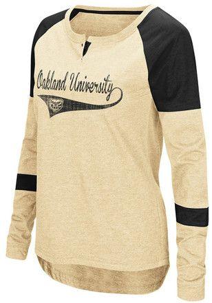 Colosseum Oakland University Golden Grizzlies Womens Routine Scoop Neck Tee