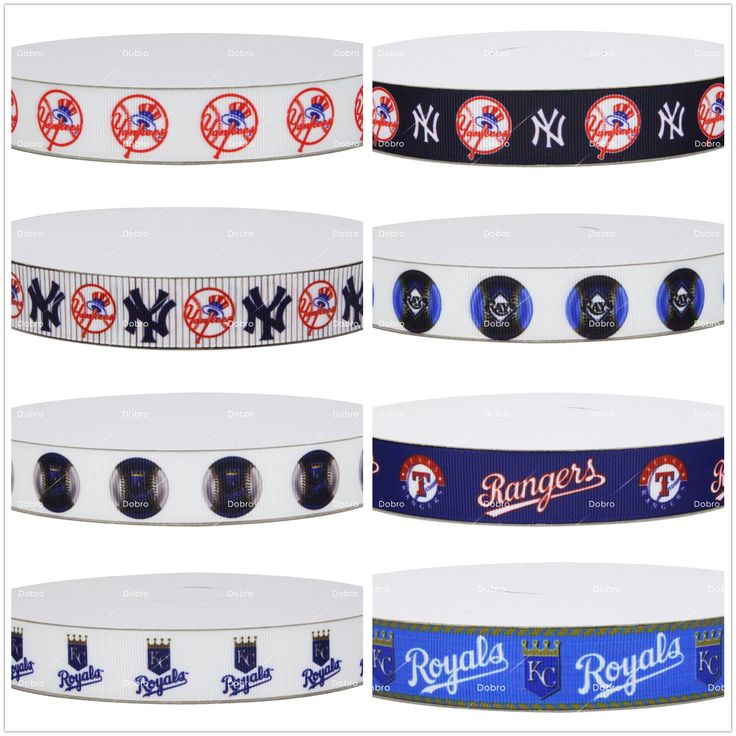 Dobro 17 Choices Top Team Baseball Game Sport Series Printed Grosgrain Ribbons for Hair DIY Craft Party Decoration #Affiliate