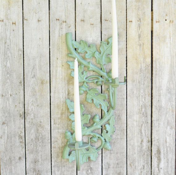 Candle wall sconce metal wall sconce lighting by vintassentials vintage home decor v2 Metallic home decor pinterest