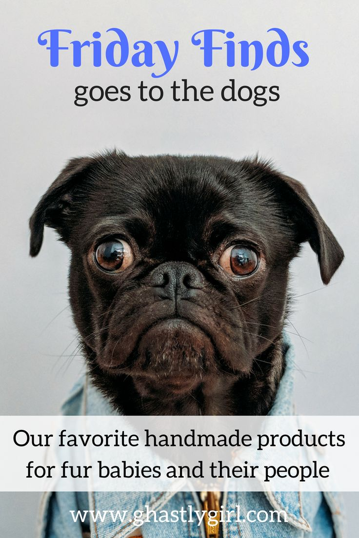 In this week's Friday Finds we have our favorite handmade products for dogs and their people #handmadegifts #dogmom #dogtreats
