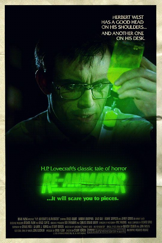 Movie Poster GIF - Re-Animator (1985) by Loupii