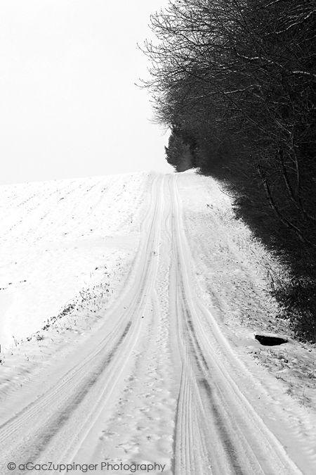 ROAD :: #road #winter #snow #b&w