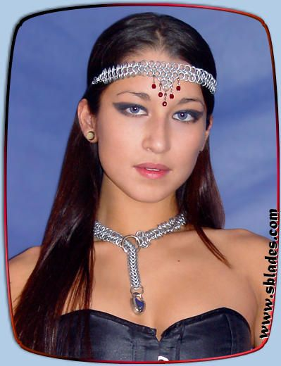Amira chain mail headband, chainmail jewelry, Handmade metal costume wear by Chainmail & More
