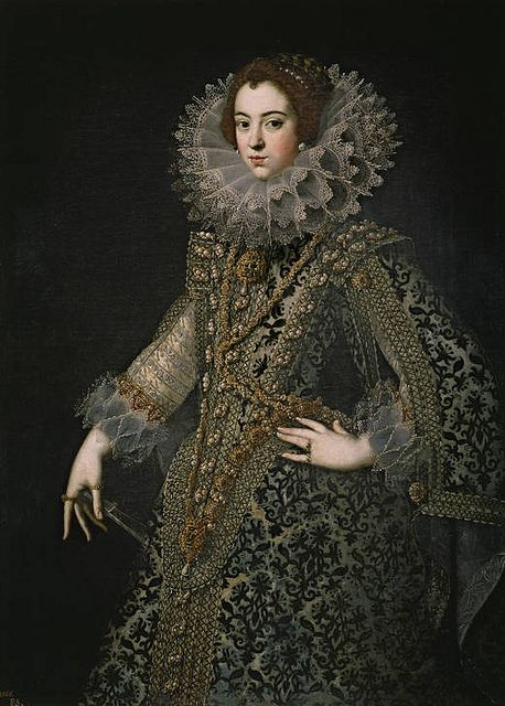 Isabel de Bourbon, Queen of Spain, 1620,  first wife of King Philip IV of Spain. She was the eldest daughter of King Henry IV of France and his second spouse Marie de' Medici.