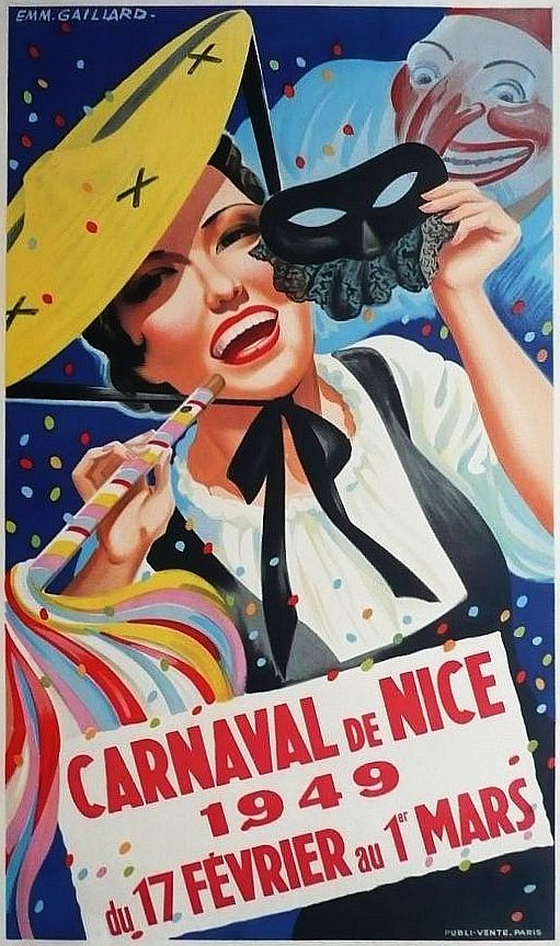 ✨  Emmanuel GAILLARD - Carnaval de Nice 1949. Printer: Publi vente, PARIS