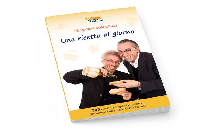 """Progettazione e impaginazione del libro di ricette di """"Leonardo Romanelli"""", famoso critico enogastronomico e conduttore radiotelevisivo."""