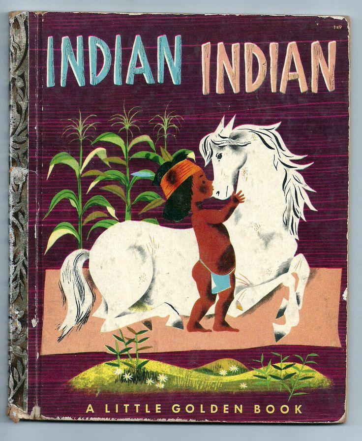 ''Indian Indian'' Little Golden Book 1952, illus. Leonard Weisgard | eBay