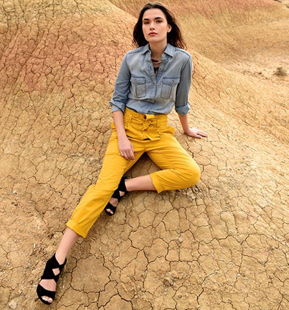 Une idée de tenue colorée et stylée avec un pantalon jaune : http://ptilien.fr/Jl9n #outfit #look #mode