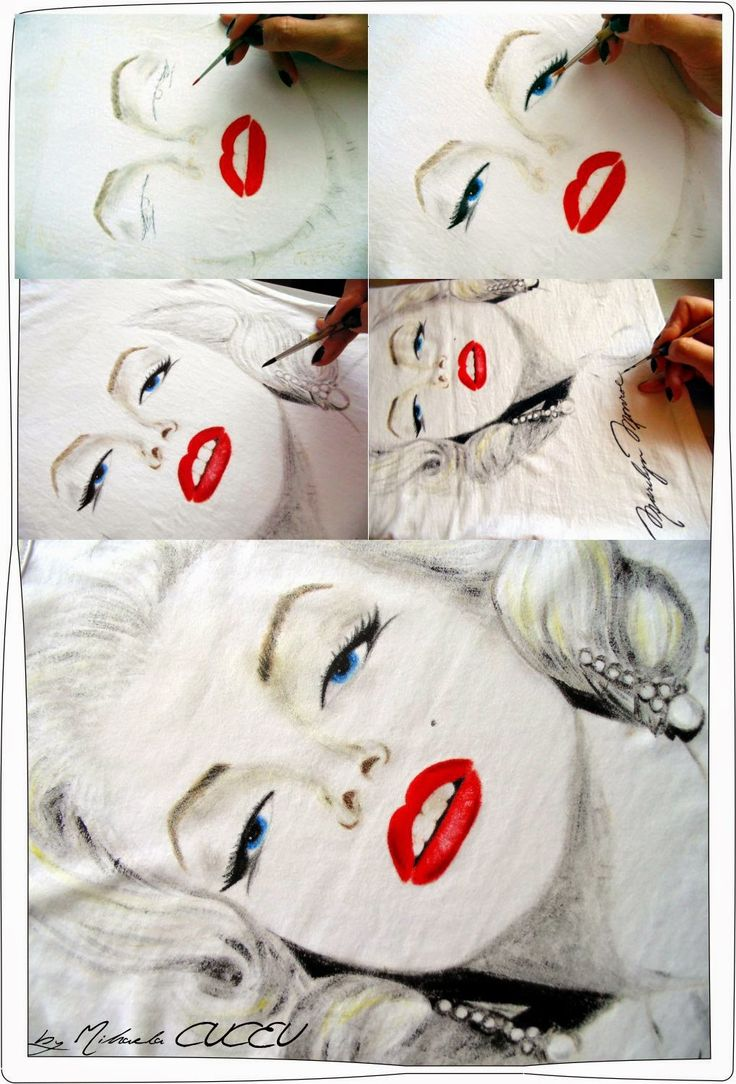 Marilyn Monroe - pictura manuala tricou dama!