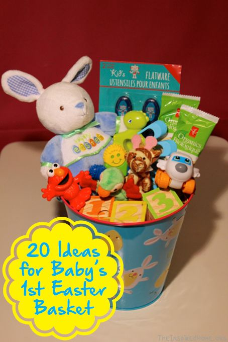 Baby's deserve Easter presents too! Here's 20 ideas for what to include in baby's first Easter basket. No candy in these baskets!