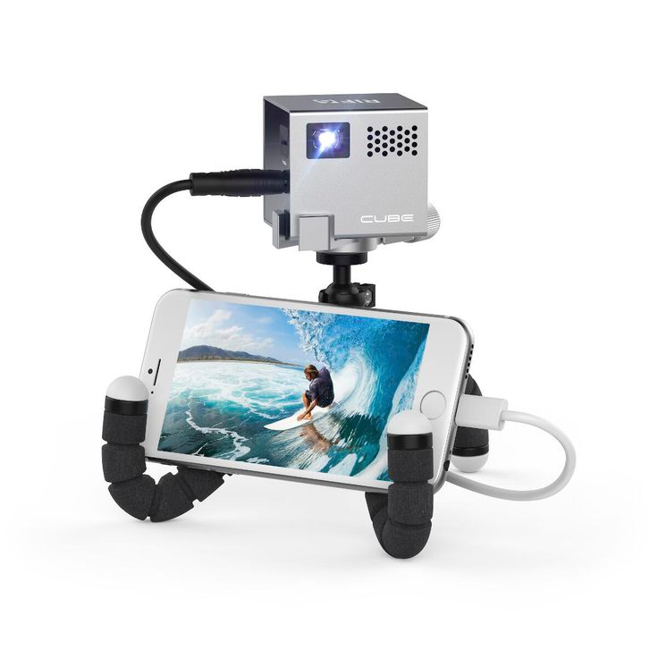 Mobiler Mini Projektor Cube