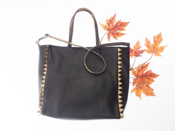 Daphne shopper New Leaves collection by HappyM #happym #fashion #shopperbag #leatherbag