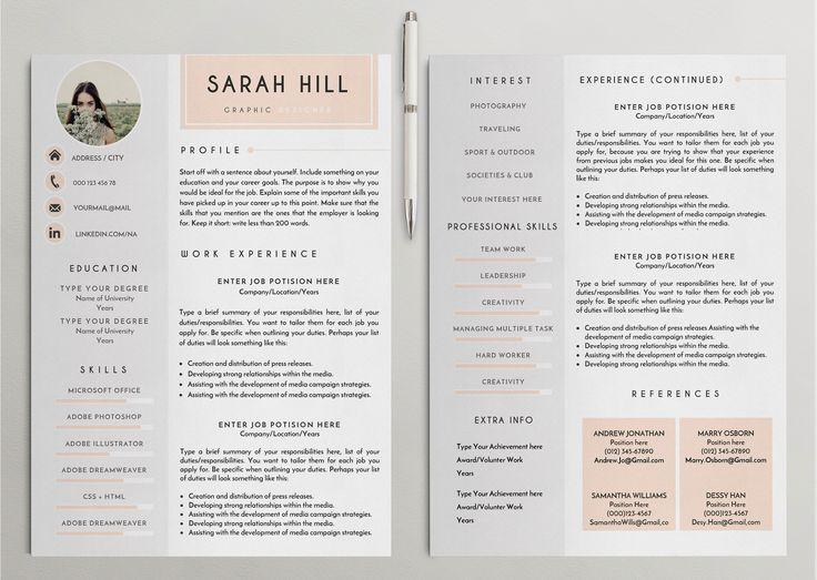 Professional Resume /CV Template - 9 by CreativeLab on @creativemarket