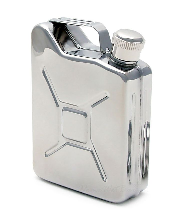 Pack a cheeky nip in your hip pocket. This super sleek jerry can hip flask will have you swigging like a sailor and breaking rules in no time. | huntingforgeorge.com