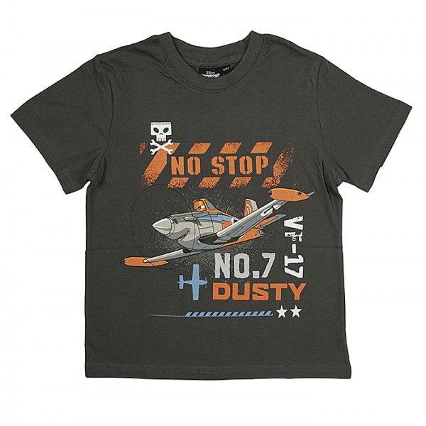 Planes Dusty mørkebrun t-shirt med motiv fra Disney filmen Flyvemaskiner