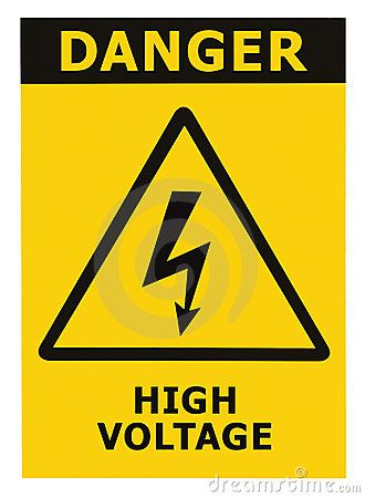 High Voltage Sign. (((It's electric)))
