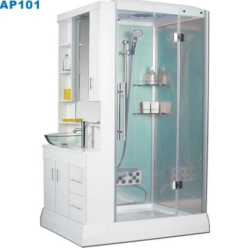 that is a compact shower and hand basin all in one. Love!