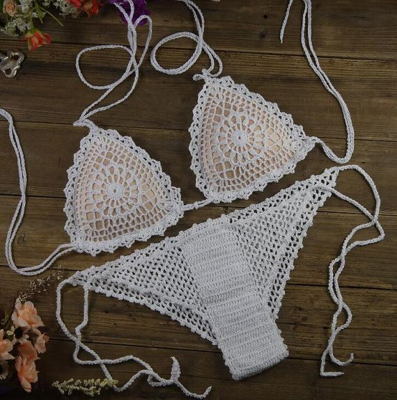Crochet Bikini Handmade FREE SHIPPING by NIniCrochet on Etsy
