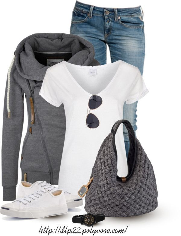 Zip Hoodie with Hobo Bag Casual Outfit   – outfit