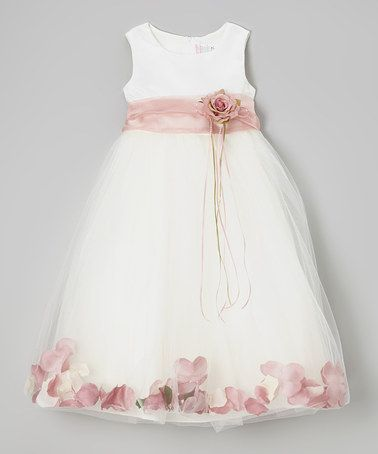 This Ivory & Rose Floral A-Line Dress - Infant, Toddler & Girls is perfect! #zulilyfinds