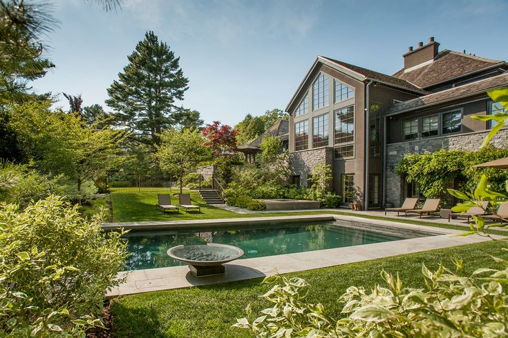 A new owner renovated a suburban spec house on a 1.6-acre site on the outskirts of Boston and asked us to design a landscape to knit the building into its site. The locations of the house, at the crest of a hill, the steep driveway entry, and the backyard tennis court could not change, so...