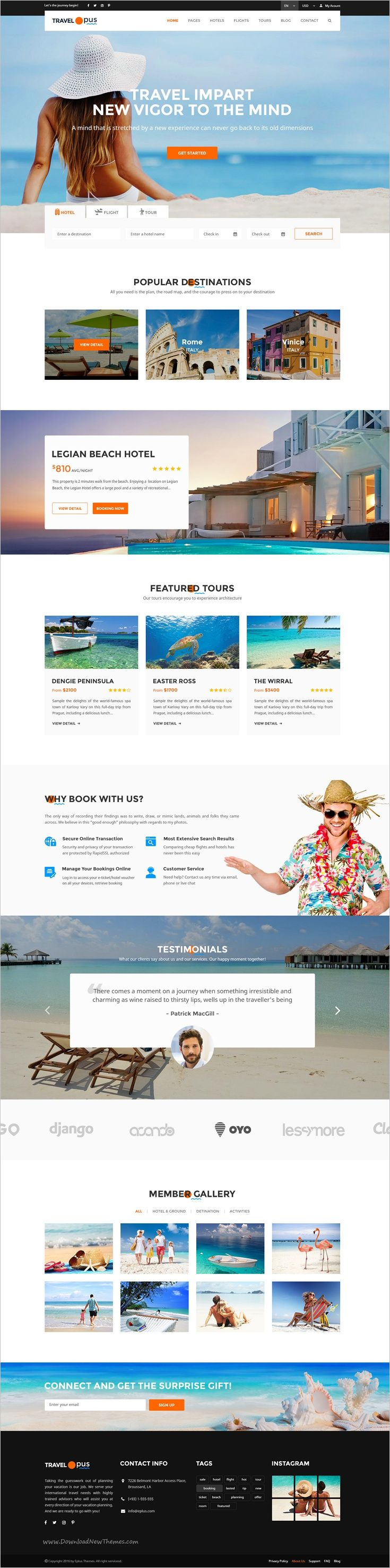 Travel Opus is a beautiful PSD template