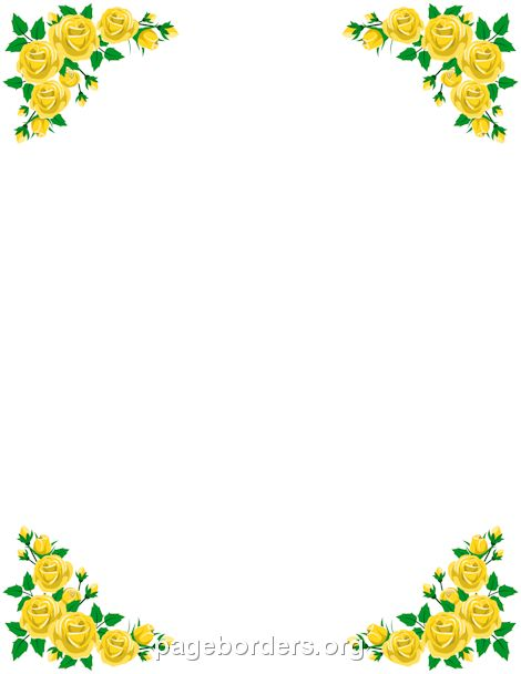 758 best page borders and border clip art images on pinterest for Flower borders for word
