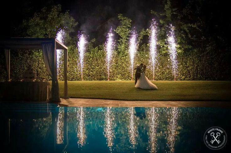 Fireworks in the sky // Wedding in Bassano
