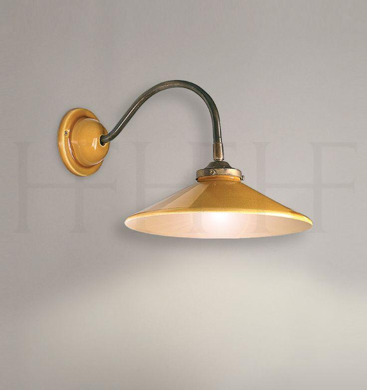 French Ceramic Lyre wall light, swan arm bracket