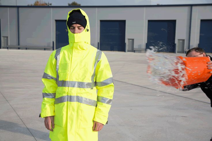 Hi-Vis #Waterproof #PPE for the Winter months, tested by our sales team!  http://pksafetyuk.com/product-category/clothing/clothing-protective/clothing-protective-weather/