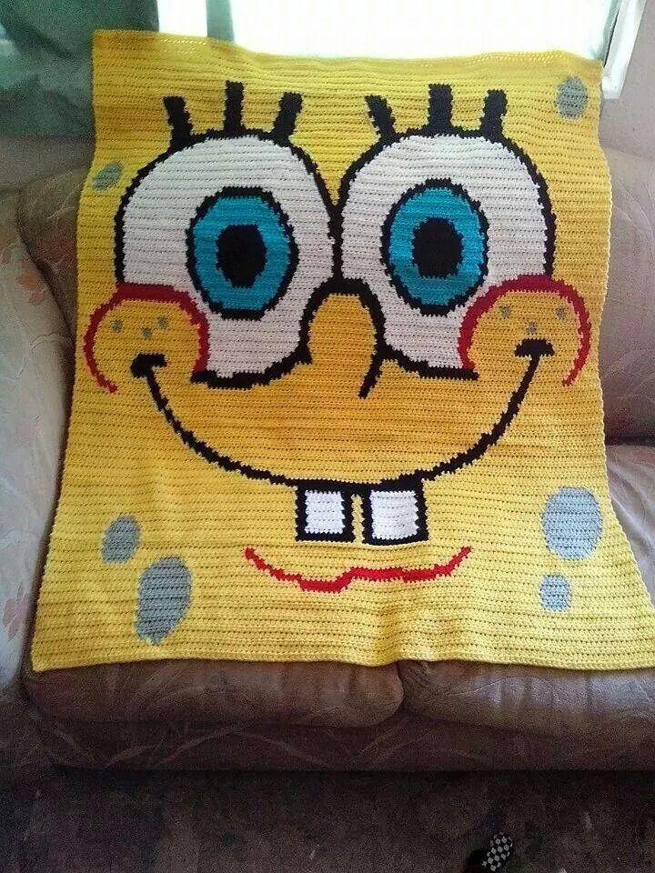Spongebob Blanket Crochet Warmth Pinterest