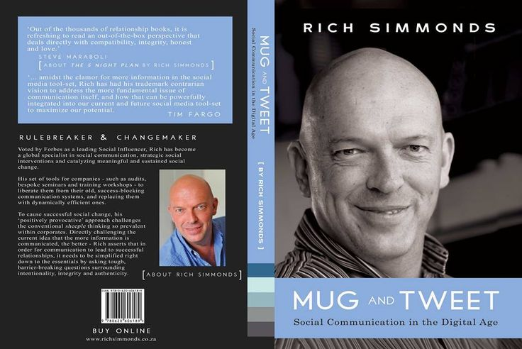 'Mug & Tweet: Social Communication in the Digital Age' by Rich Simmonds (One Drop of Ink: editing, copy editing, layout, cover design, infogram designs) #bookcover #socialmedia