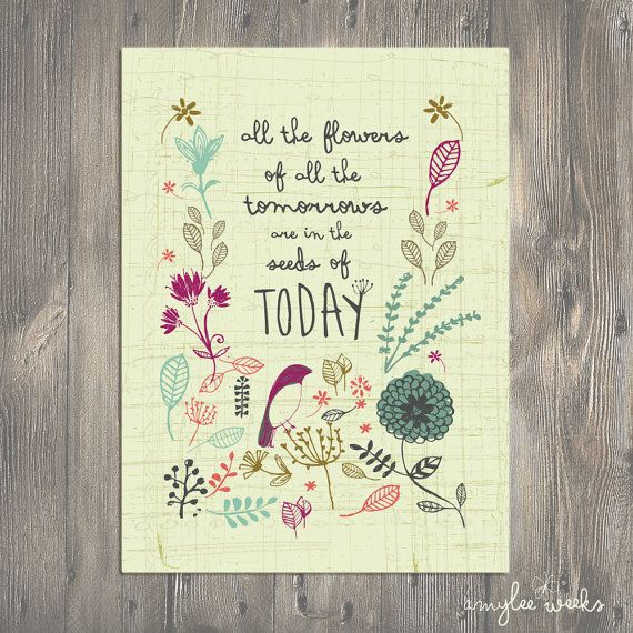 """This is a perfect gift for a teacher, a mom, childcare provider -- anyone who is so busy planting seeds that they might forget that they are creating so many flowers for our future. Remind them that their """"job"""" is what keeps this world turning."""