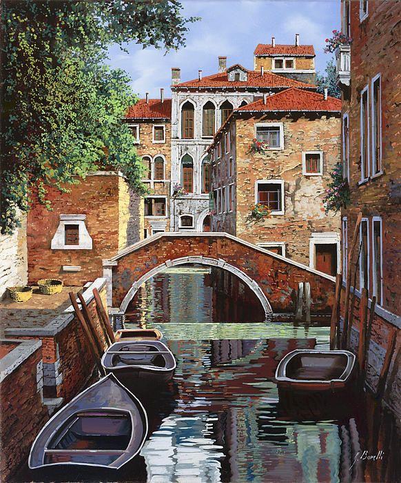 ღღ  Riflessi Di Venezia Painting - Riflessi Di Venezia Fine Art Print - Guido Borelli